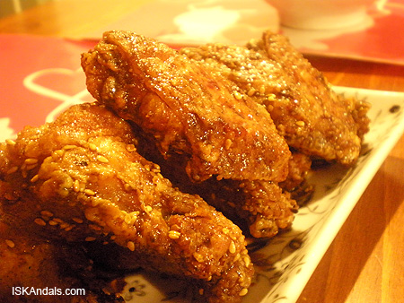 Korean Chicken with Sesame Seeds