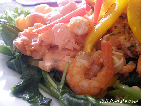 Shrimp, Smoked Salmon and Kangkong Salad