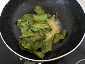 lime leaves on butter
