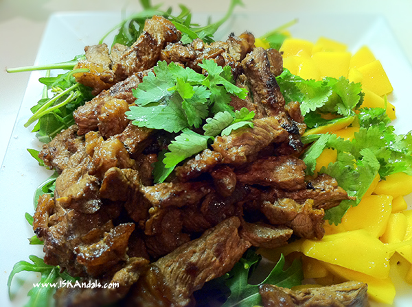 Asian Beef BBQ and Mango Salad